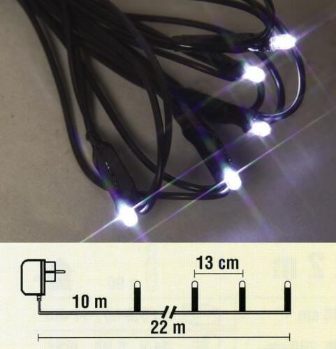LED guirlande électrique 12m 96er kaltweiß//noir best season 476-58