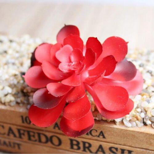 Künstliche Blume Rosenköpfe Sukkulente Pflanzen Blumenstrauß Hochzeit Deko Paket