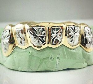 Custom Silver 14k Gold Plated Starburst Snowflake Cut 2