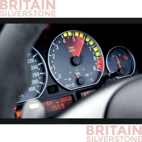 BMW E39 5 Serie SILVER Cluster Gauge dashboard ANELLI Speedo UK Venditore