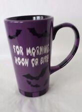 Halloween Bats Coffee Tea Mug Cup Morning Noon Bite