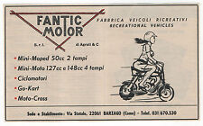 Pubblicità FANTIC MOTOR MOPED MOTO CROSS advertising werbung publicitè