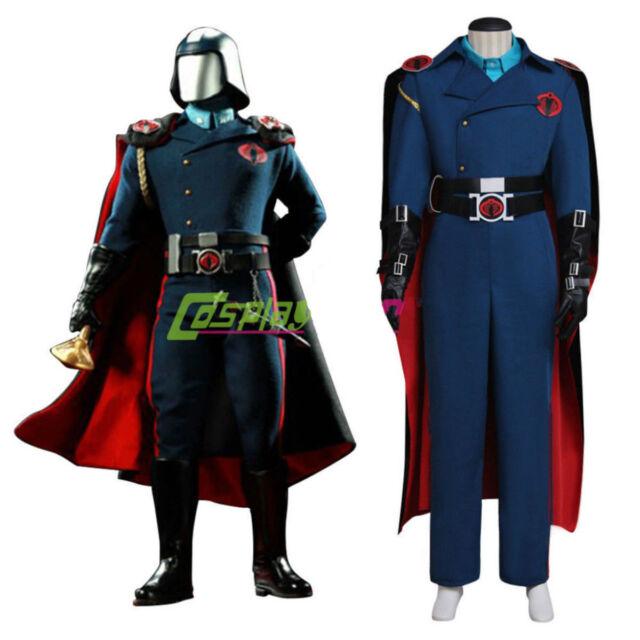 G.I.Joe Cobra Commander Cosplay Costume+Red