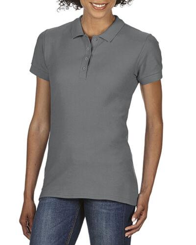 Ladies Women/'s Gildan Polo Shirt SoftStyle® Double Pique Polo Shirt Super Soft