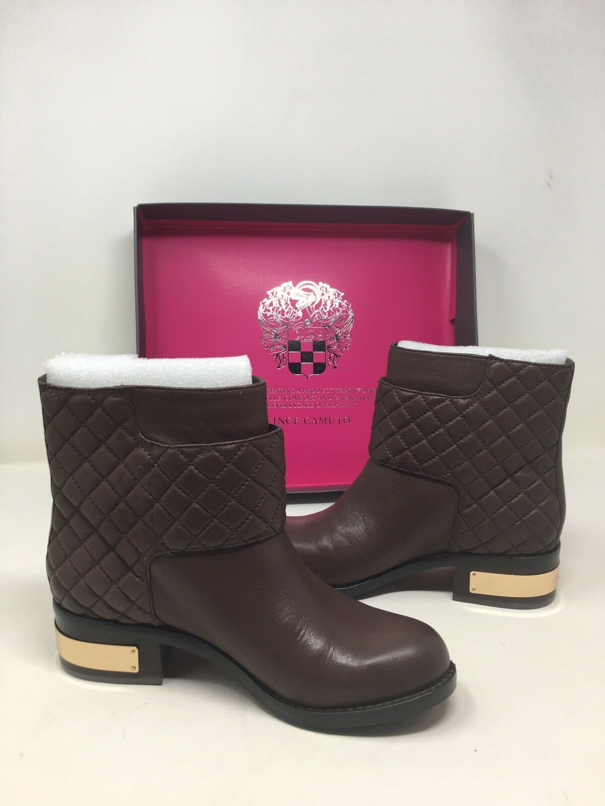 Vince Camuto ankle boots VC-Winta Burly BROWN Pampas size 6.5M US buckle women @
