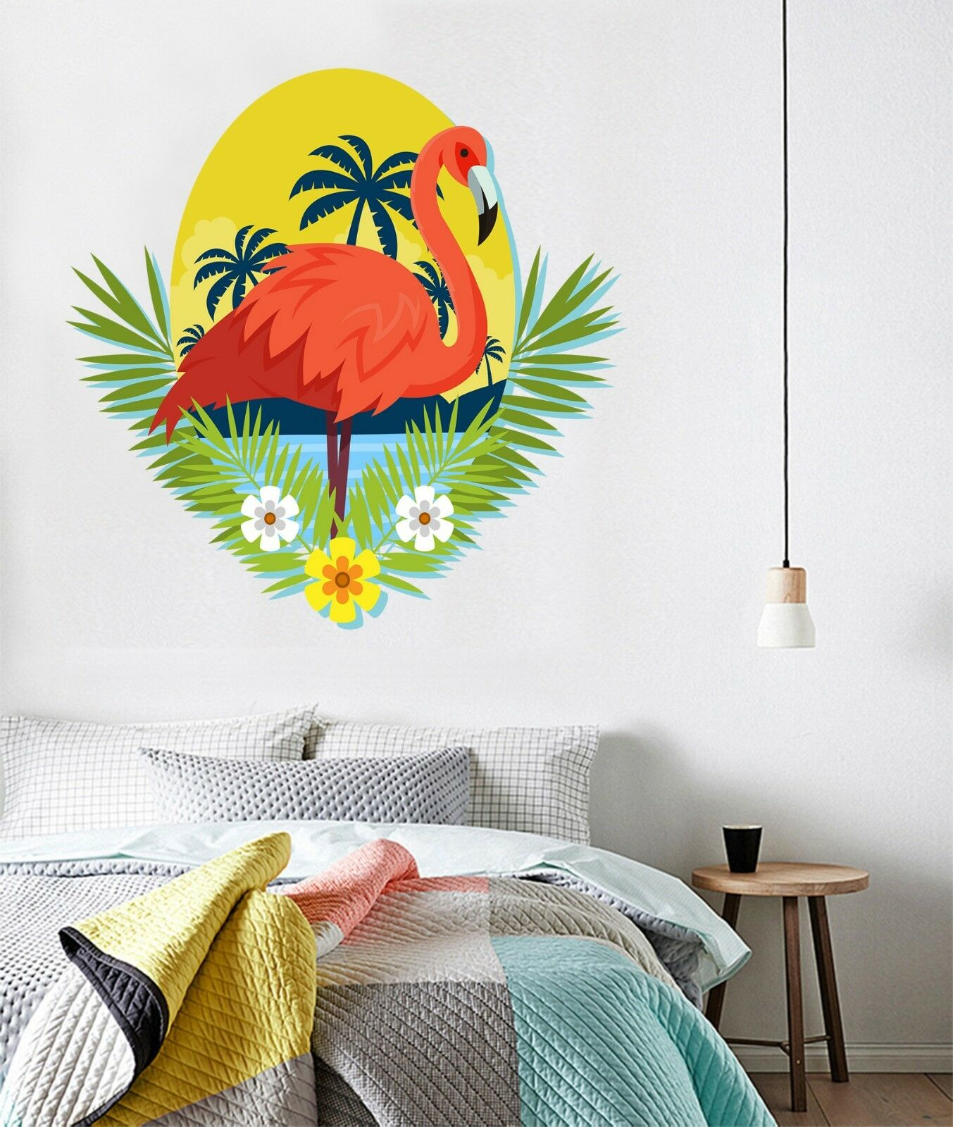3D Sun Flamingo 745 Wallpaper Murals Floor Wall Print Decal Wall Sticker