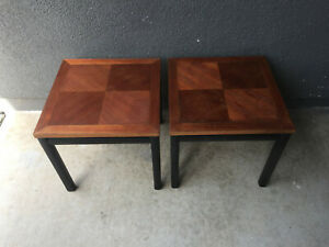Details About 2 MICHAEL TAYLOR BAKER FURNITURE WOOD SIDE TABLE MID CENTURY  MODERN EAMES ERA