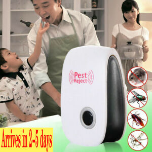 Electronic Pest Reject Control Ultrasonic Repeller Home Bug Rat Spider Roaches