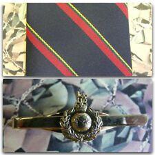 Royal Marines (Stripe) Tie & Tie Bar Set With ROYAL MARINE Tie Bar (light) RM