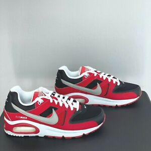 Nike Air Max Command Mens Size 7.5 Red White Black Silver 629993-039 Trainer New