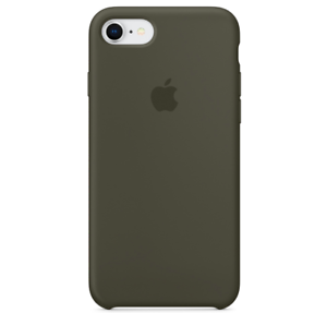 iPhone-8-7-SE-2020-Apple-Echt-Original-Silikon-Schutz-Huelle-Dunkle-Olive-NEU