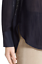 miniature 4 - * NWT Vince Textured Slub Long Sleeve Tunic Top Silk Henley Blouse 4 Navy Blue