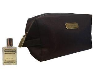 5738ead03707 Details about Aramis 14ml EDT Mini Travel Size + Aramis Classic Brown Mens  Toiletry Bag