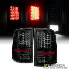 Blk Smoke 2009-2017 Dodge Ram 1500 2500 3500 Full LED Tail Lights  Reverse Lamps