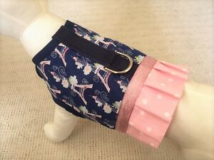 Eiffel-Tower-Paris-Pink-Polka-Dot-Ruffle-Dog-Harness-Vest