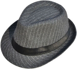5f73a575e Details about Men's Classic Fedora Cuban Style Narrow Striped Upturn Short  Brim Panama Hat