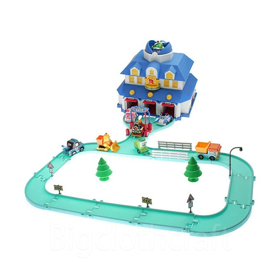 Robocar Poli Rescue Center Station Play Set with Jin Figure