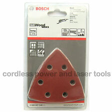 10 Bosch Delta Sanding Sheets Mixed Grit WOOD PDA PMF GOP Multi Tool 2608607540