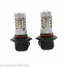 2Pcs Cree Auto LED Fog Light or DRL 80W 1900LM, 9005/HB3, Color Cool White 6000K