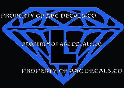 VRS Diamond CUSTOM INITIAL L DIAMANTE JEWEL STONE Metal CAR Decal Wall Sticker