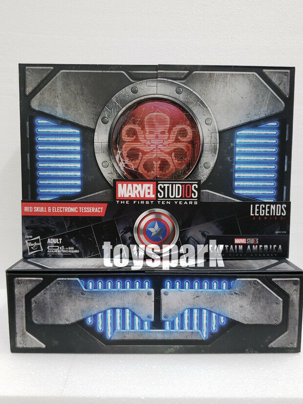 Hasbro sdcc 2018 MARVEL 6 Legends Series RED SKULL figure & ELECTRONIC TESSERACT