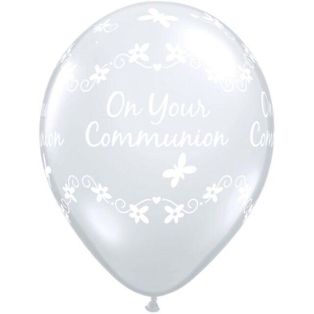 Quarubber 11 Inch Clear Rubber Balloon - Communion Butterflies - Balloons