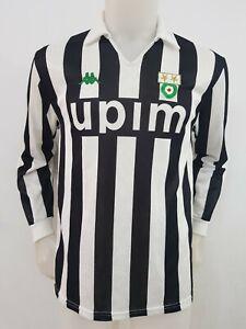 MAGLIA-CALCIO-JUVENTUS-KAPPA-1990-1991-TAG-L-FOOTBALL-ITALY-SOCCER-MAILLOT-I56