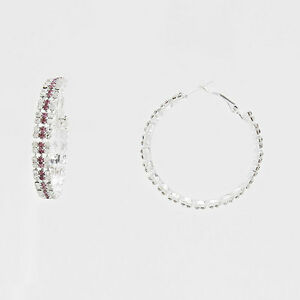 1-75-034-Silver-and-Purple-Rhinestone-FASHION-Earrings