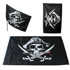 Halloween Huge 3x5FT Skull and Crossbones Sabres Swords Jolly Roger Pirate Flag