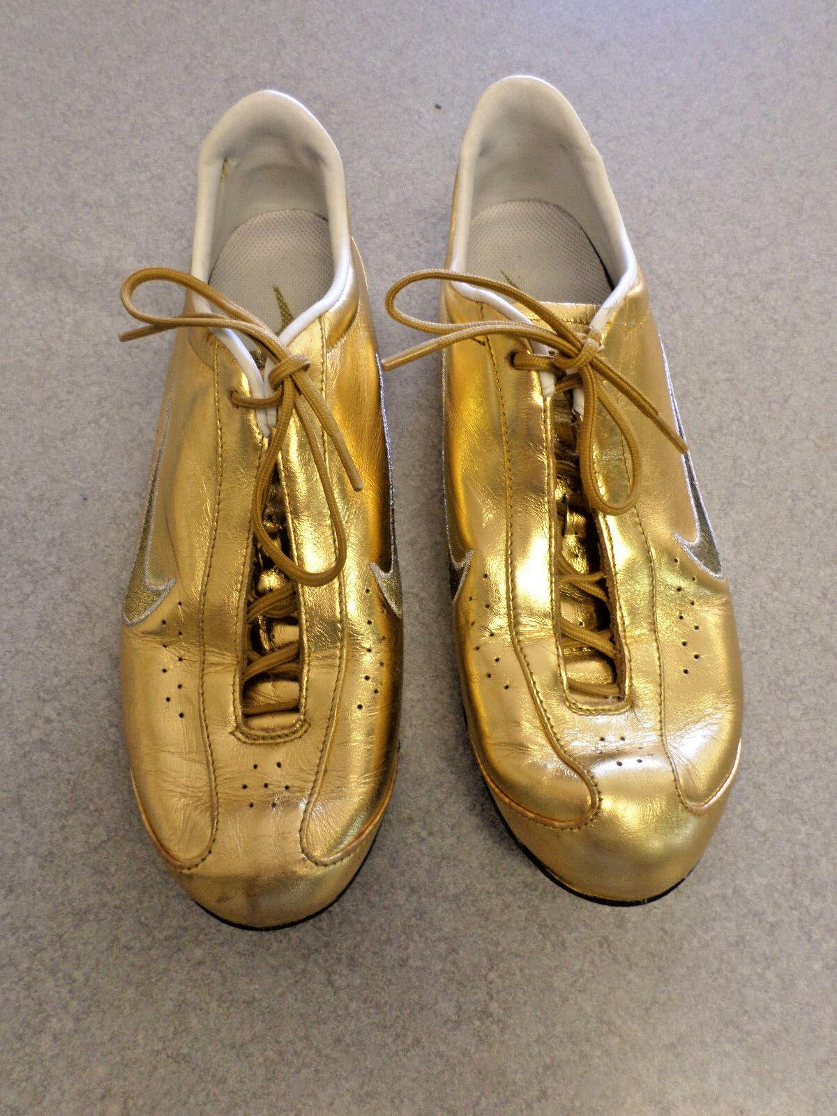 RARE  Nike Shox  Rival Or  gold metalic running shoes Women's 7