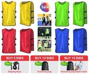 Football Training Rugby Hockey Soccer  Basketball Sports Bib Youth Adult Clothes