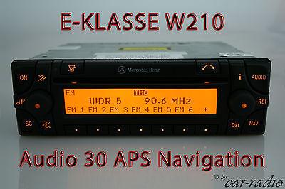 Original Mercedes Audio 30 APS Navigationssystem E-Klasse W210 S210 Navi Radio
