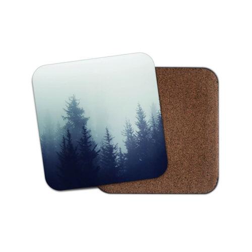 Misty Forest boissons Coaster-Spooky Woodland arbres Brouillard Hiver Cool Cadeau #8502