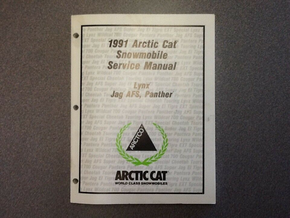 ARCTIC CAT OEM SERVICE MANUAL 1991 LYNX JAG AFS PANTHER 2254-644