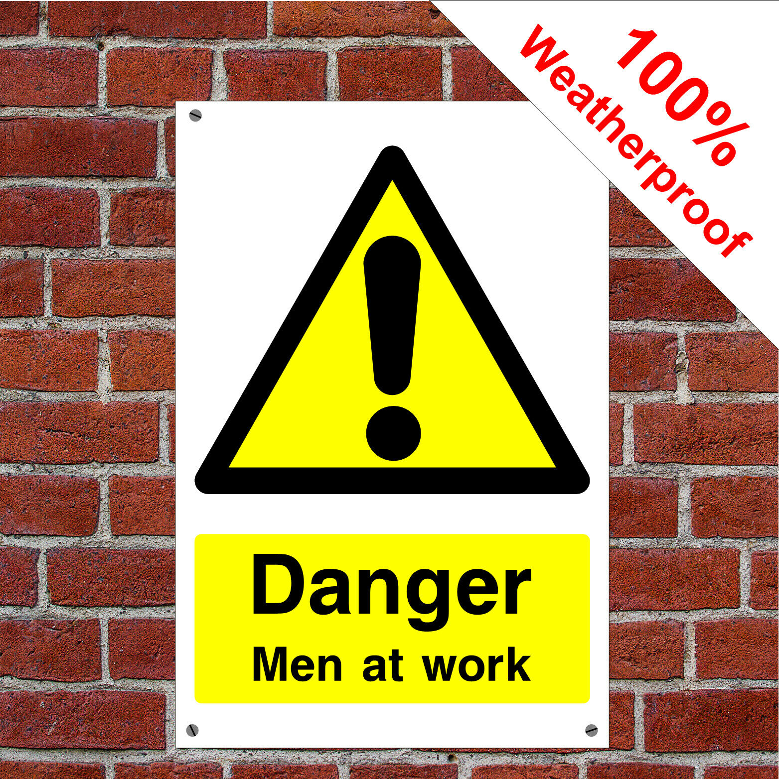 Danger Men bei der Arbeit Gesundheit und Sicherheit Zeichen CONS039 Langlebig