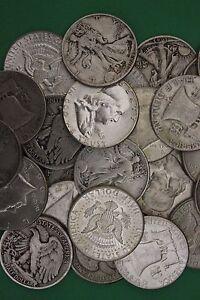MAKE OFFER 1 Troy Pound 1964 Kennedy Mercury Walking Junk 90/% Silver Coins