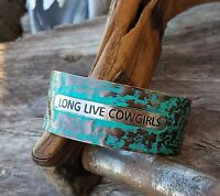 Cowgirl Gypsy Bling Cuff Long Live Cowgirls Patinacopper Tone Bracelet