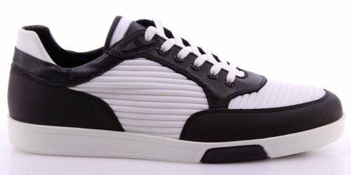Men/'s Shoes Sneakers DIRK BIKKEMBERGS Olimpian 189 Leather Black White Fabric