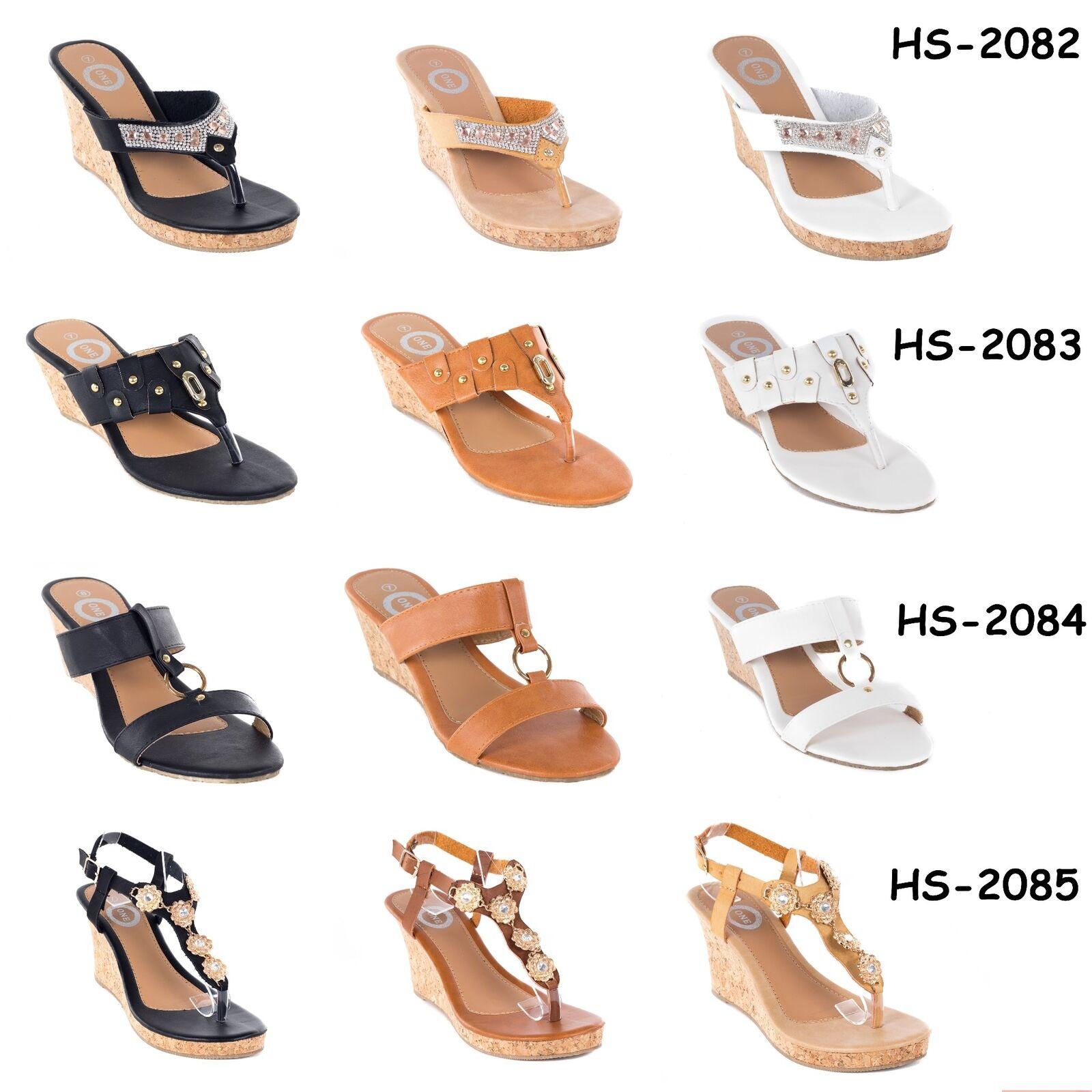 Women Platform Flip Thong Wedge Sandals Fashion Heel Slip-Ons Flip Platform Flops Shoes (8) 20433c