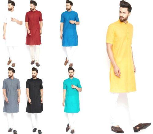 Indian Bollywood Kurta Pajama Top Tunic Tradition Kurta Dress For Men XS-5XL