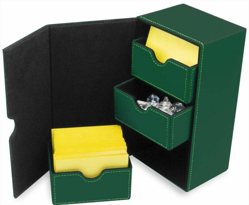 1 CLASSIC BCW GRAY LX DECK CASE LEATHERETTE MTG DECK PROTECTOR BOX