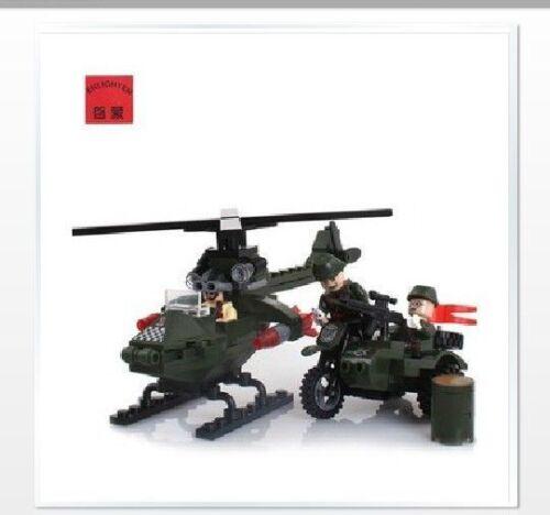 Mongolia assembling building blocks toys 806 military chase