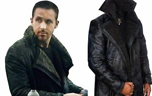 8c8b41850 Details about Blade Runner 2049 Officer K Ryan Gosling Faux Shearling  Leather Jacket All Sizes