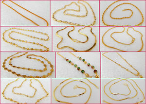 South-Indian-Jewelry-Ethnic-Gold-Plated-Necklace-Chain-Beautiful-22k-Light-Mala