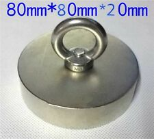 180 kg Super new Powerful big Round NdFeB Neodymium Disc Magnets N52 D80x20mm
