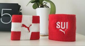 PUMA-Country-Themes-Wristbands-Switzerland-SUI-Swiss-Flag-80-Cotton