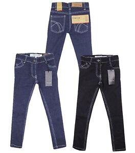 Firetrap-Filles-Coupe-Slim-Skinny-Noir-Bleu-Denim-Jeans-Pantalon-4-ans-5-ans