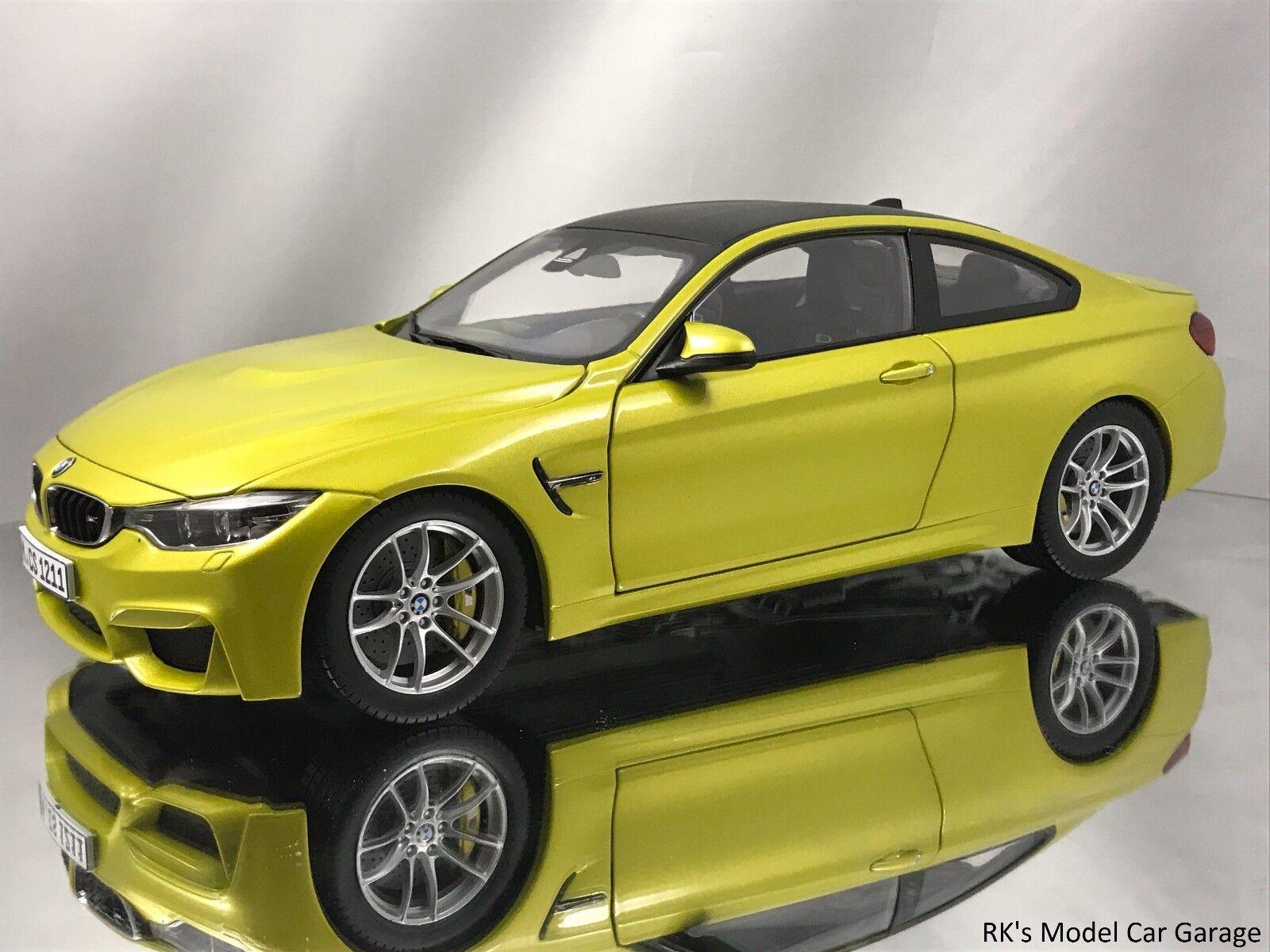 Paragon bmw m4 coupé (f82) austin gelb ein diecast modell auto 1,18