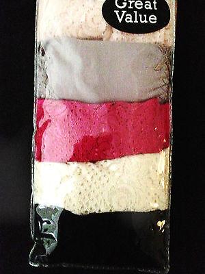New 6 Pair Women Cotton Full Brief underwear plus size 24 Black,Purple,Pink,Grey