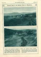 1917 BATTERIA Monastir anticipo francese di fanteria coloniale grano forniture di trasporto